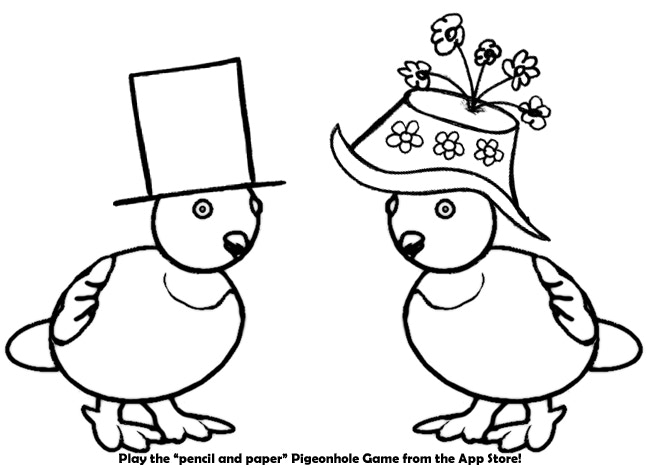 Free Coloring Pages Perfect For Keeping A Young Child Entertained While You Play Piegonhole Right Click On The Page Want Save Image